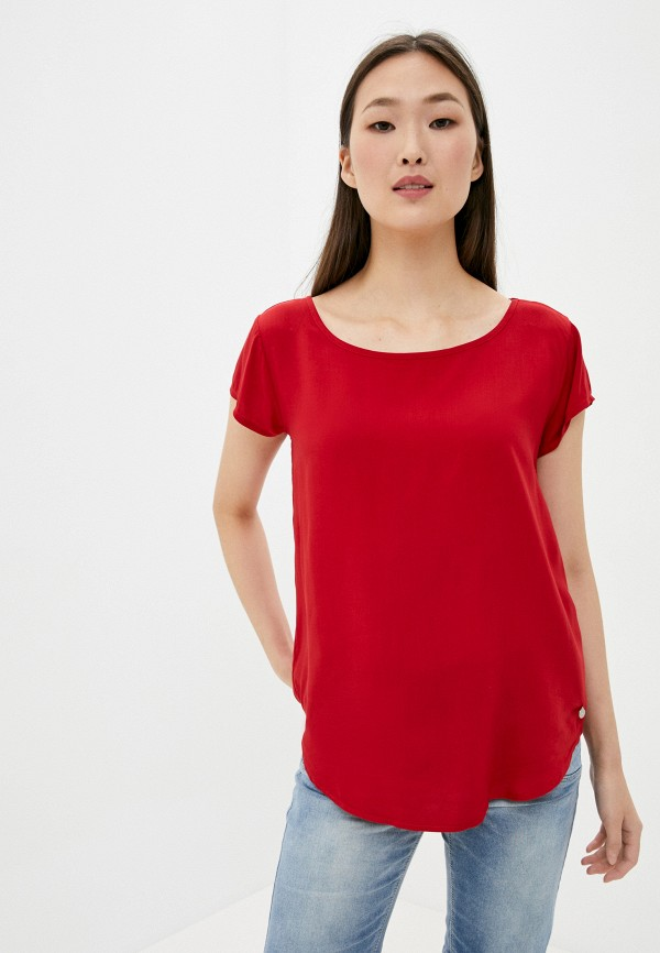 женская блузка с коротким рукавом eight2nine, красная