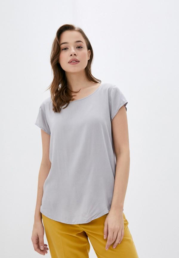 женская блузка с длинным рукавом eight2nine, серая