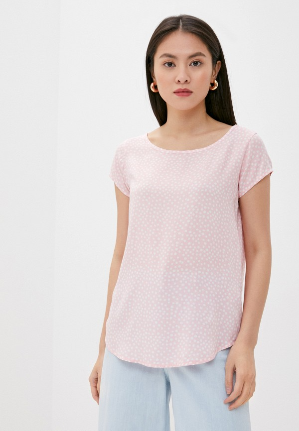 женская блузка с коротким рукавом eight2nine, розовая