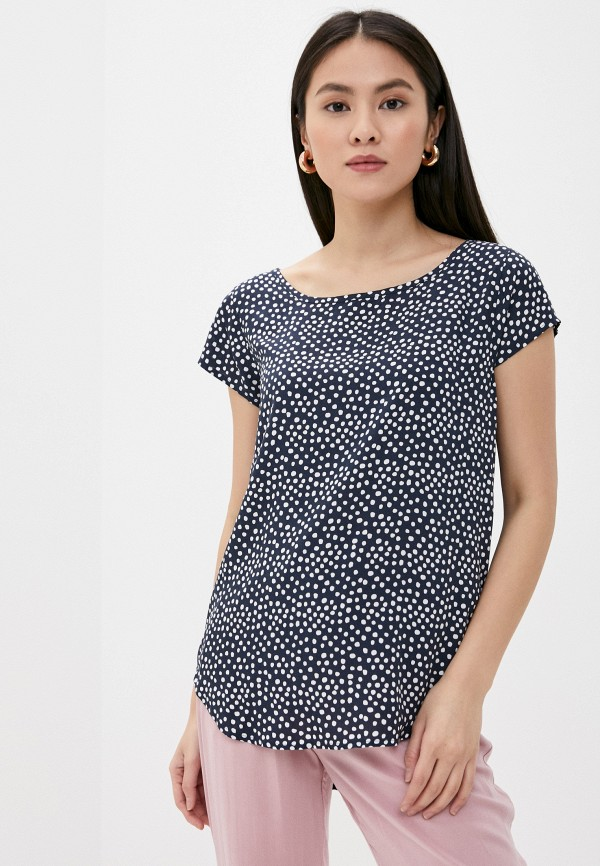 женская блузка с коротким рукавом eight2nine, синяя