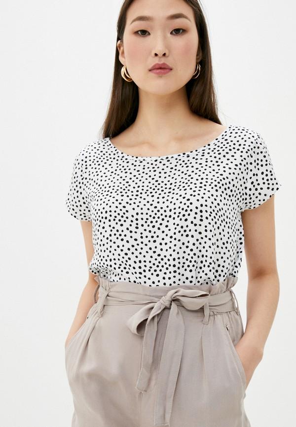 женская блузка с коротким рукавом eight2nine, белая
