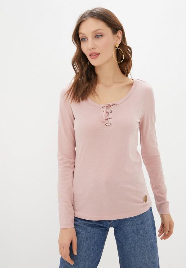 женский лонгслив eight2nine, розовый