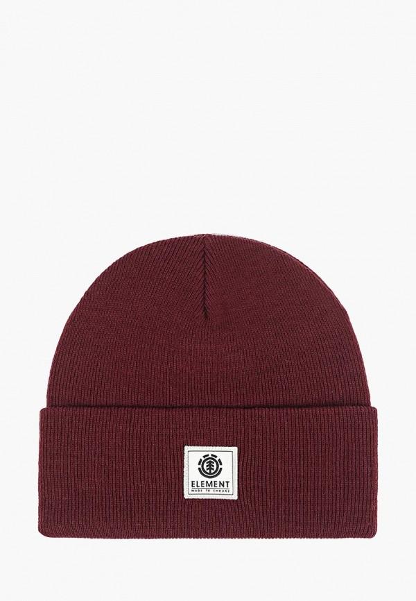 мужская шапка element, бордовая