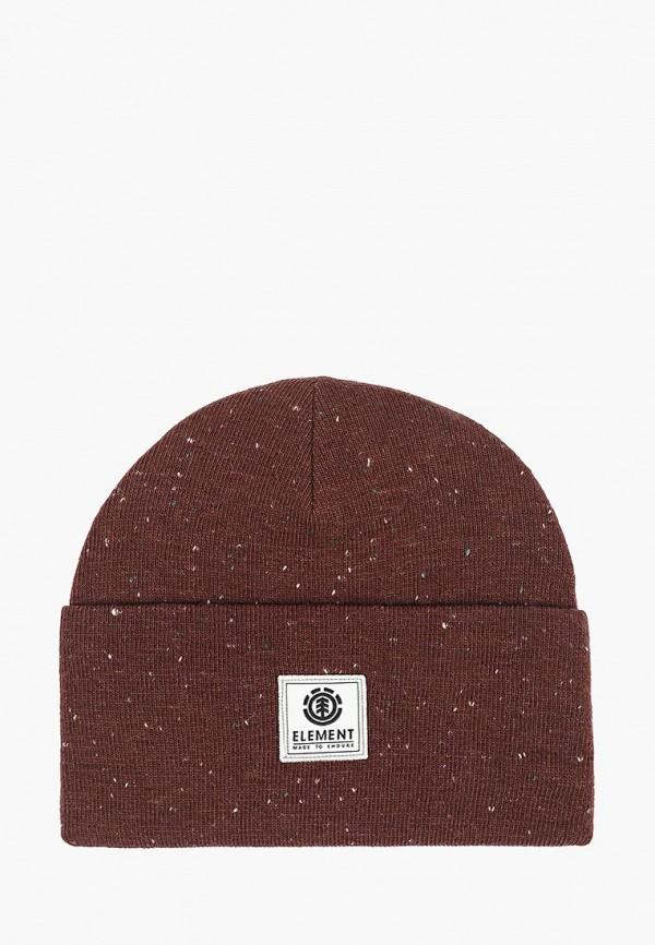 мужская шапка element, коричневая