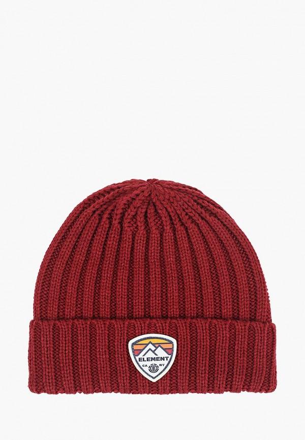 мужская шапка element, красная