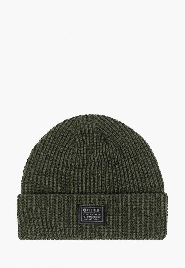 мужская шапка element, зеленая