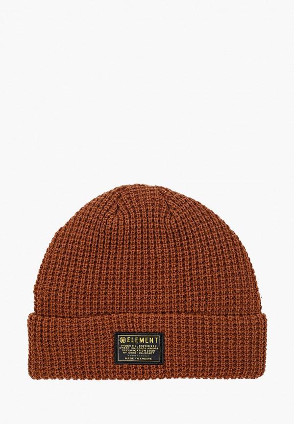 женская шапка element, коричневая