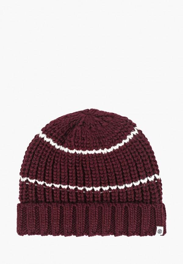 женская шапка element, бордовая