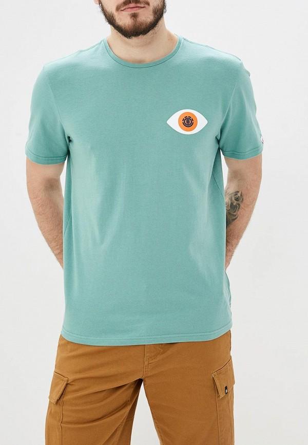 мужская спортивные футболка element, бирюзовая