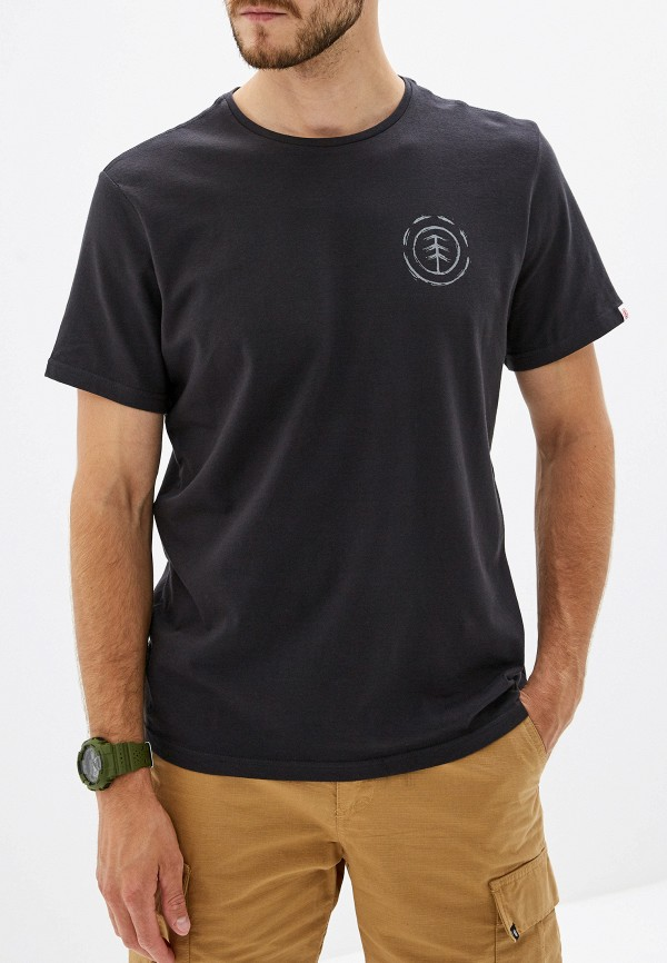 мужская футболка с коротким рукавом element, черная
