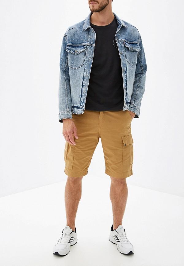 Фото 2 - мужские шорты Element бежевого цвета