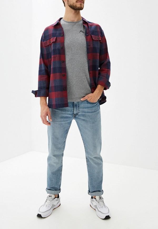 Фото 2 - мужскую футболку Element серого цвета