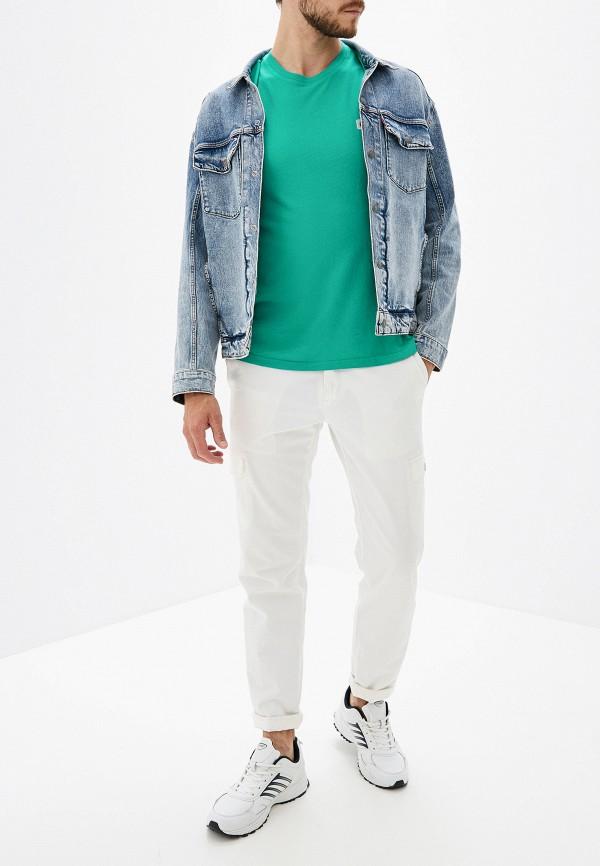 Фото 2 - мужскую футболку Element бирюзового цвета