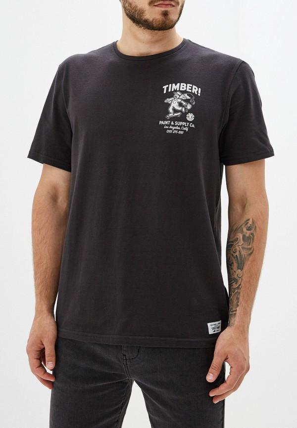 Фото - мужскую футболку Element черного цвета