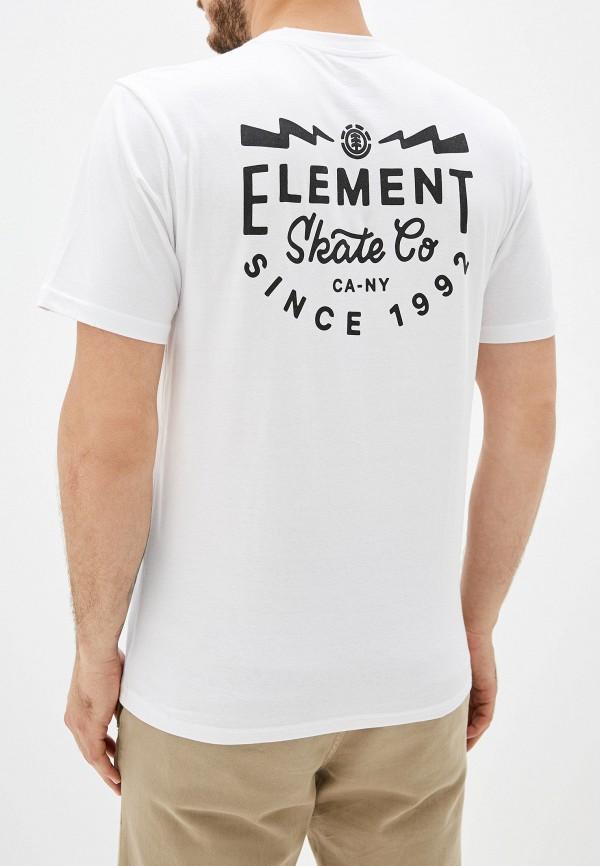 Фото 3 - мужскую футболку Element белого цвета