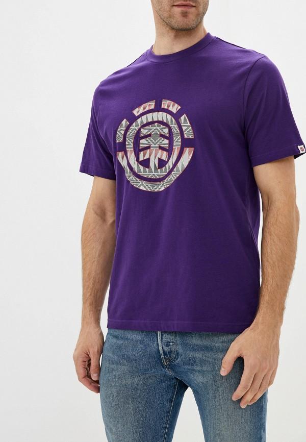 мужская спортивные футболка element, фиолетовая