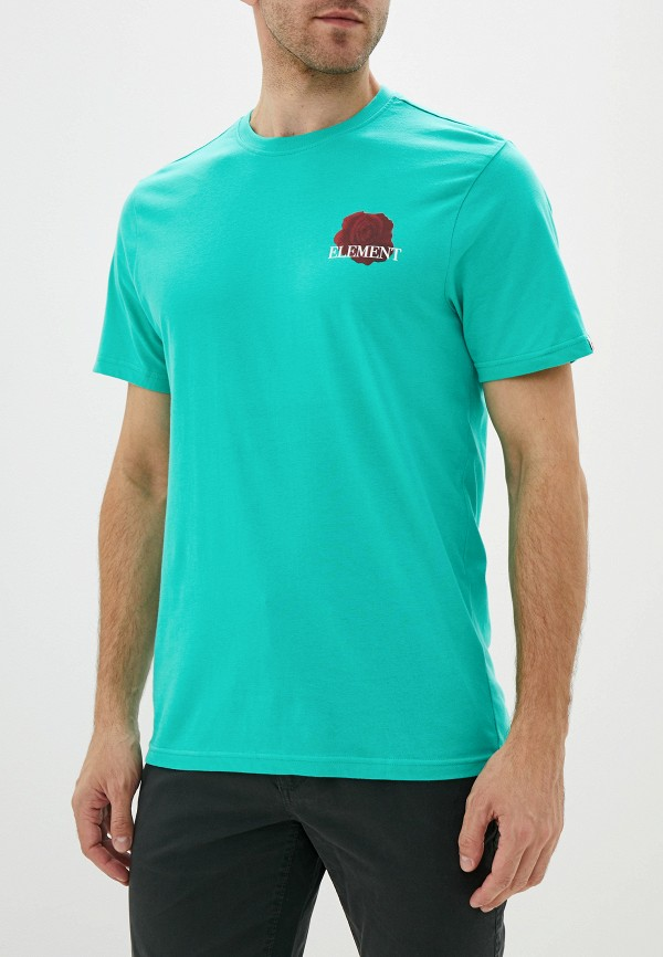 мужская спортивные футболка element, зеленая