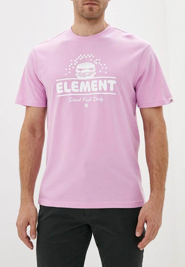 мужская спортивные футболка element, розовая