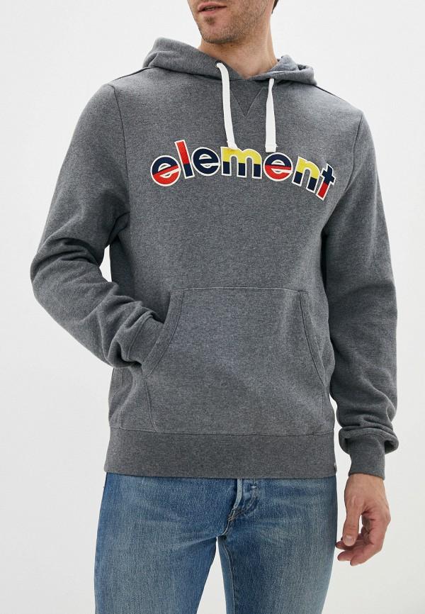 мужские худи element, серые