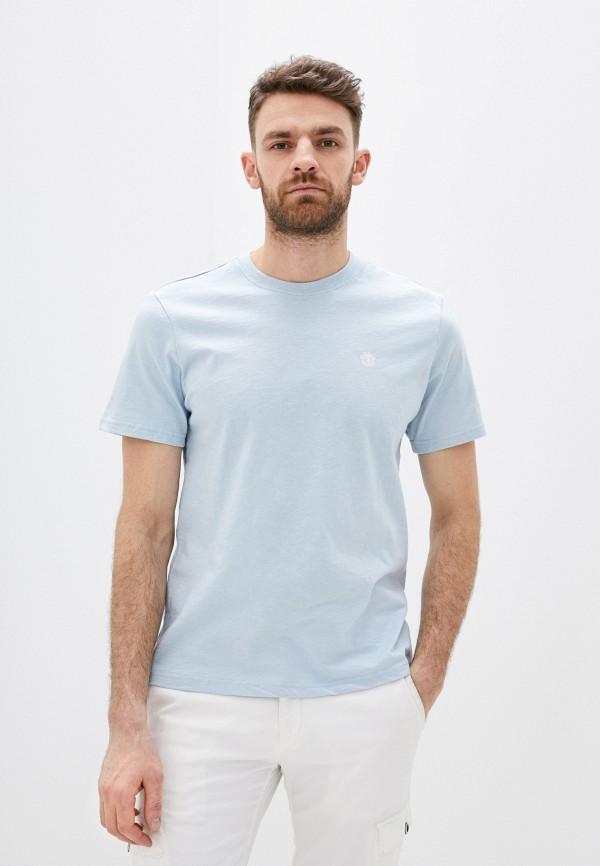 мужская футболка с коротким рукавом element, голубая