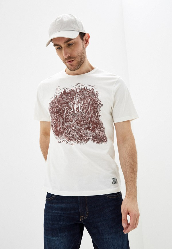 мужская футболка с коротким рукавом element, белая