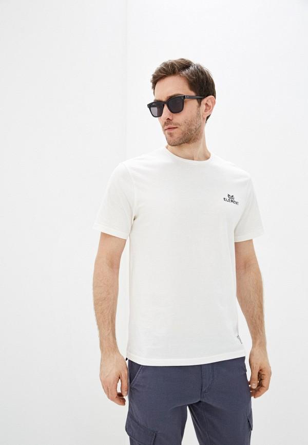 мужская футболка с коротким рукавом element, бежевая