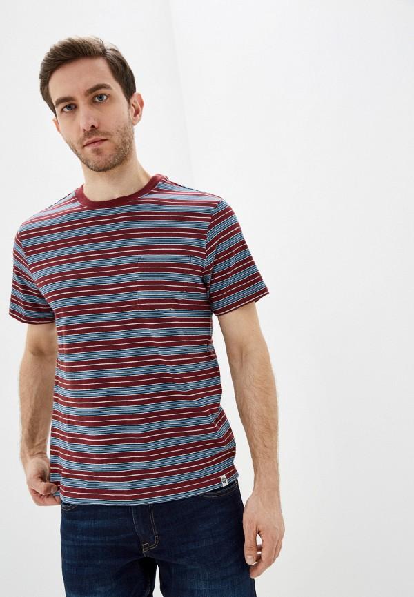 мужская футболка с коротким рукавом element, бордовая