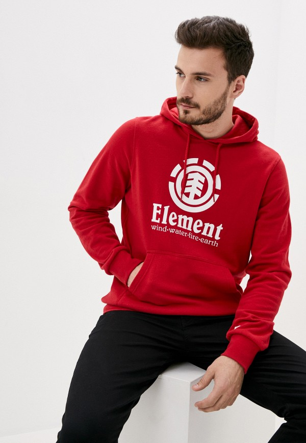 мужские худи element, красные