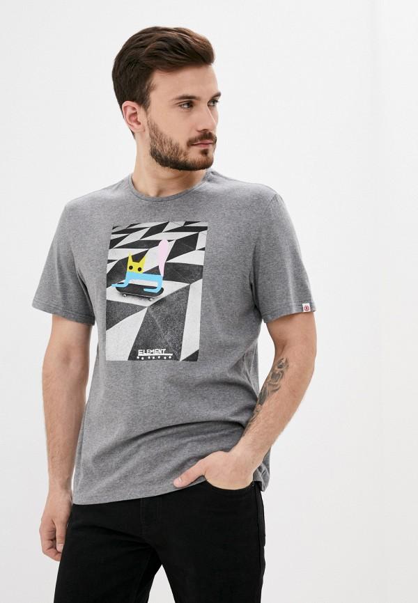мужская футболка element, серая