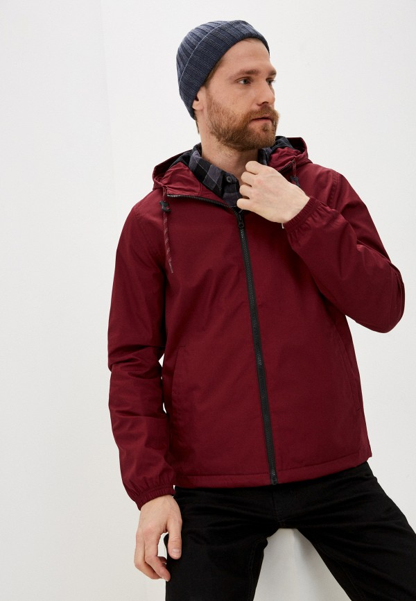 мужская куртка element, бордовая