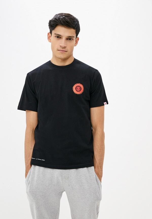 мужская спортивные футболка element, черная
