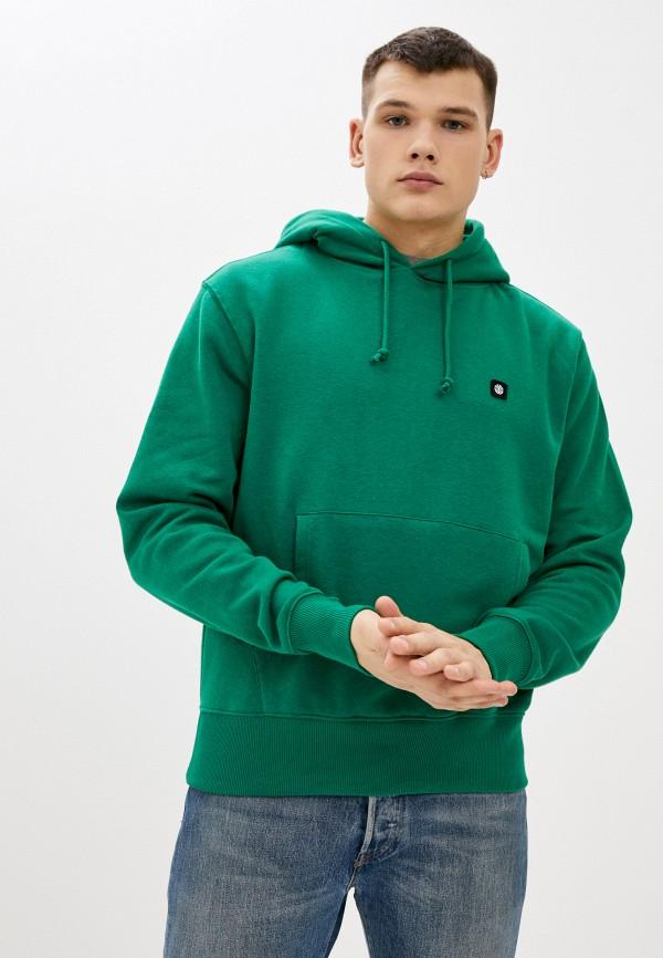 мужские худи element, зеленые