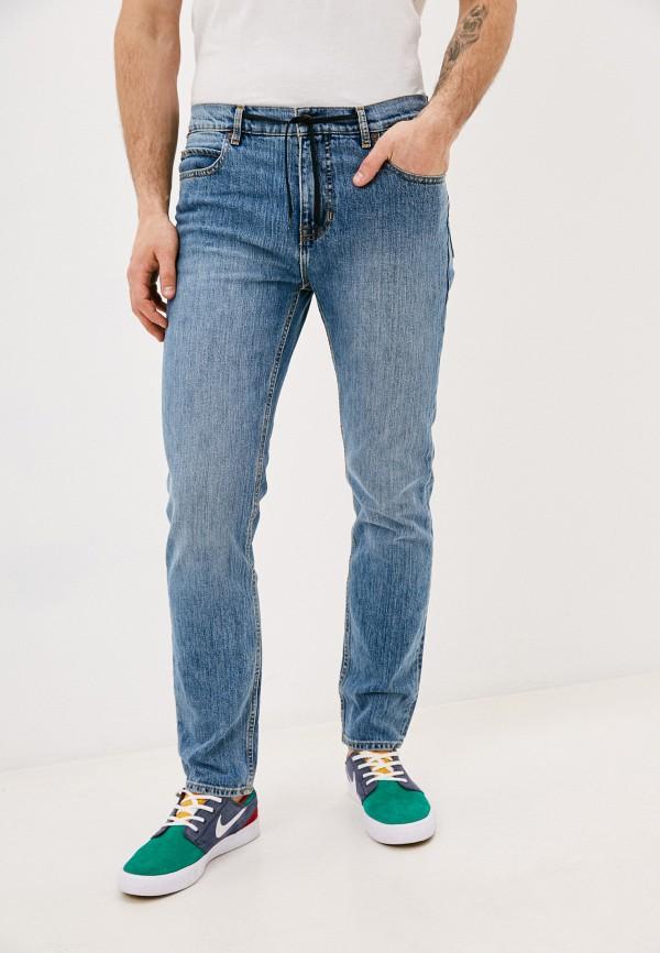 мужские зауженные джинсы element, голубые
