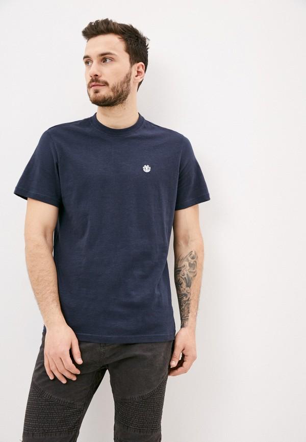 мужская футболка с коротким рукавом element, синяя