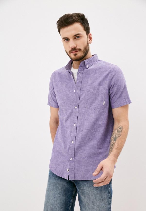 мужская рубашка с коротким рукавом element, фиолетовая