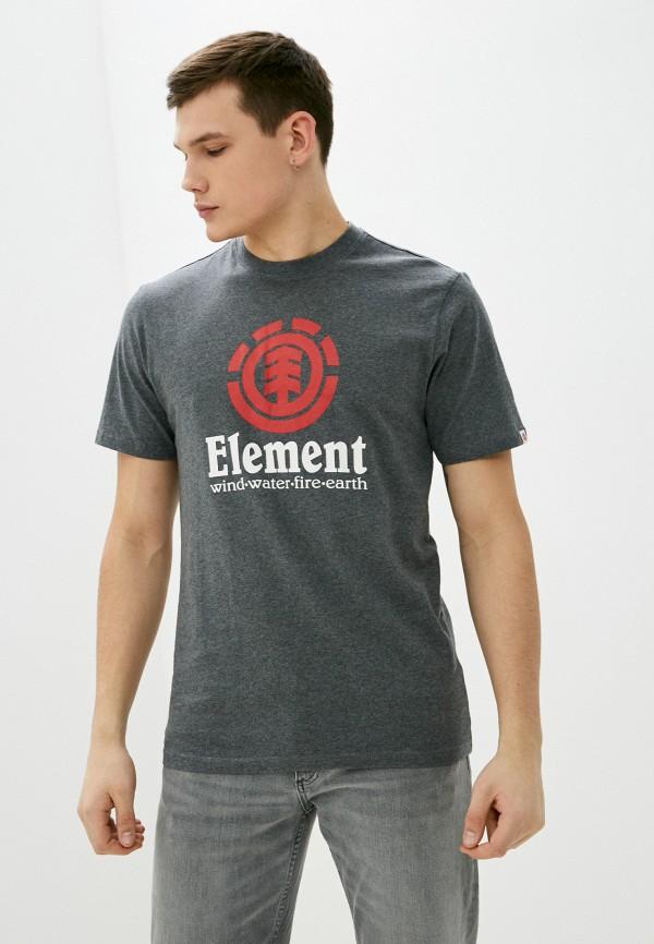 мужская футболка с коротким рукавом element, серая