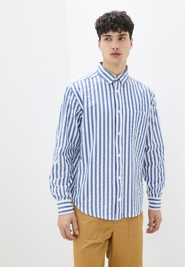 мужская рубашка с длинным рукавом element, синяя