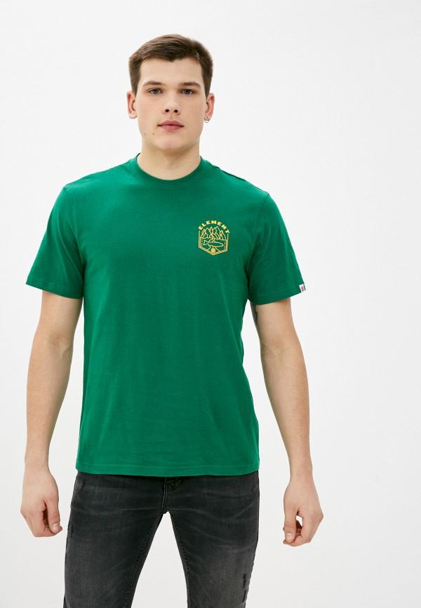 мужская футболка с коротким рукавом element, зеленая