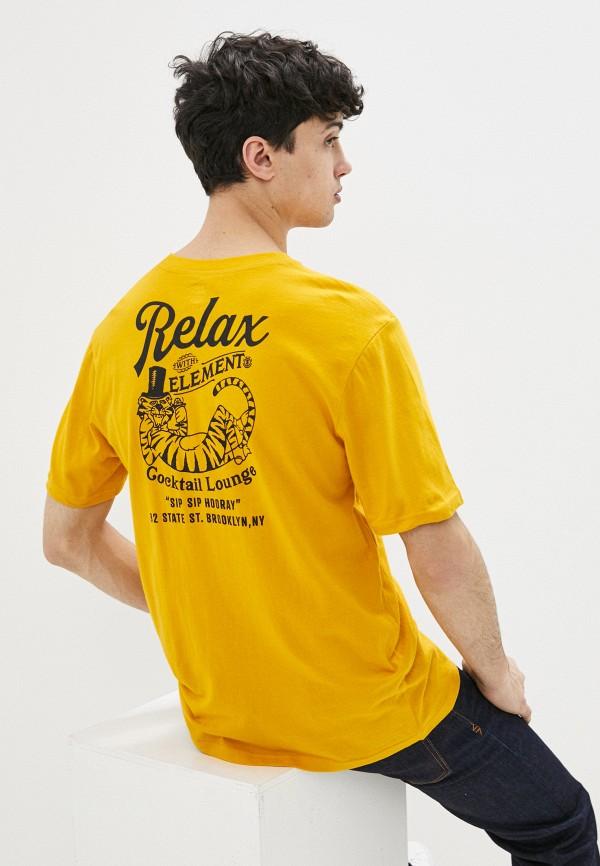 мужская футболка с коротким рукавом element, желтая