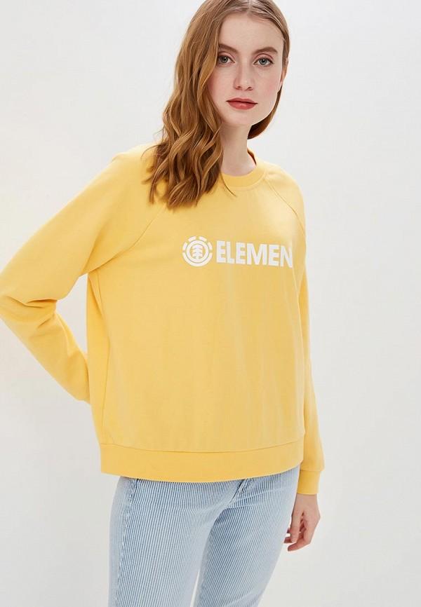 женский свитшот element, желтый