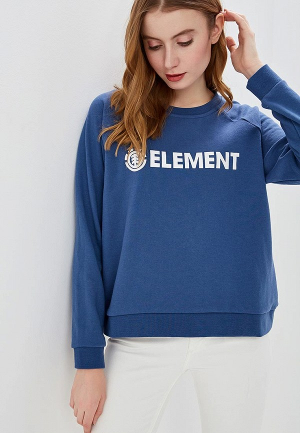 женский свитшот element, синий