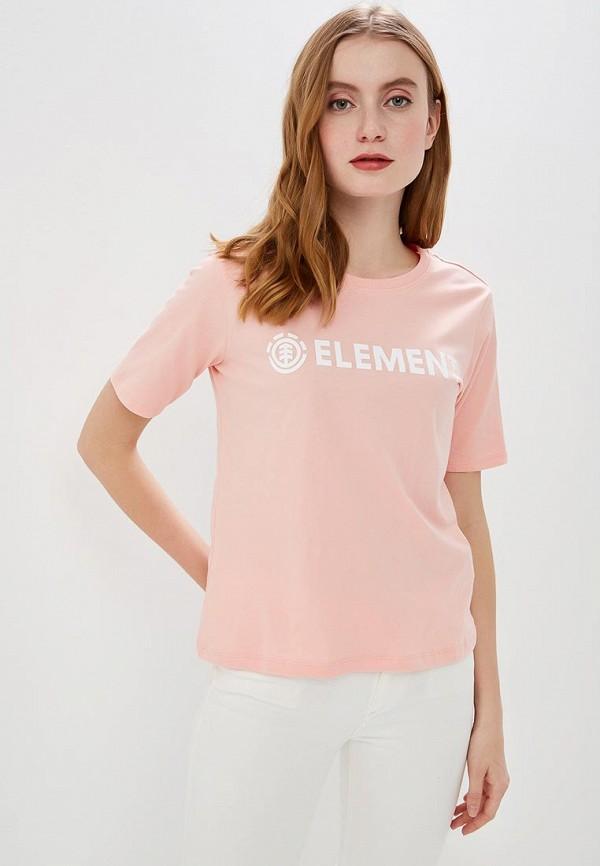 женская спортивные футболка element, розовая