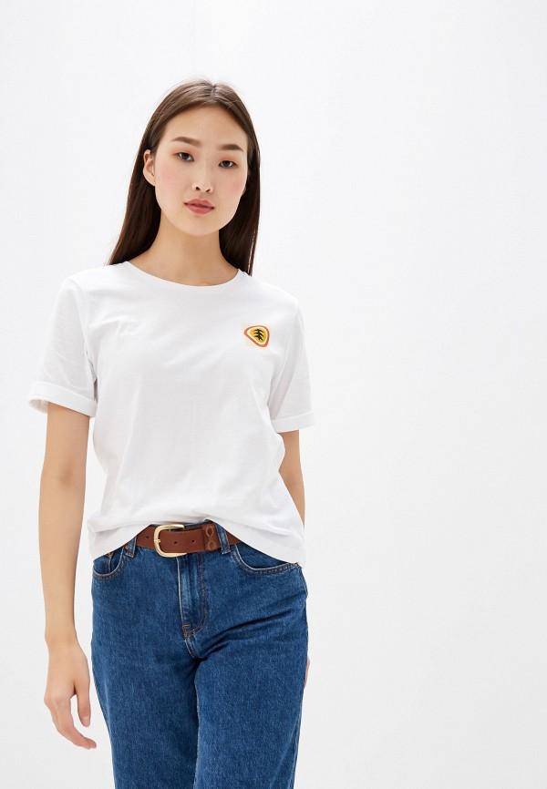 женская спортивные футболка element, белая