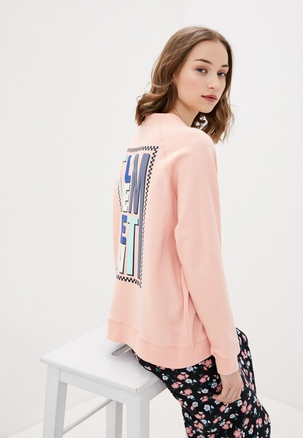 женский свитшот element, розовый