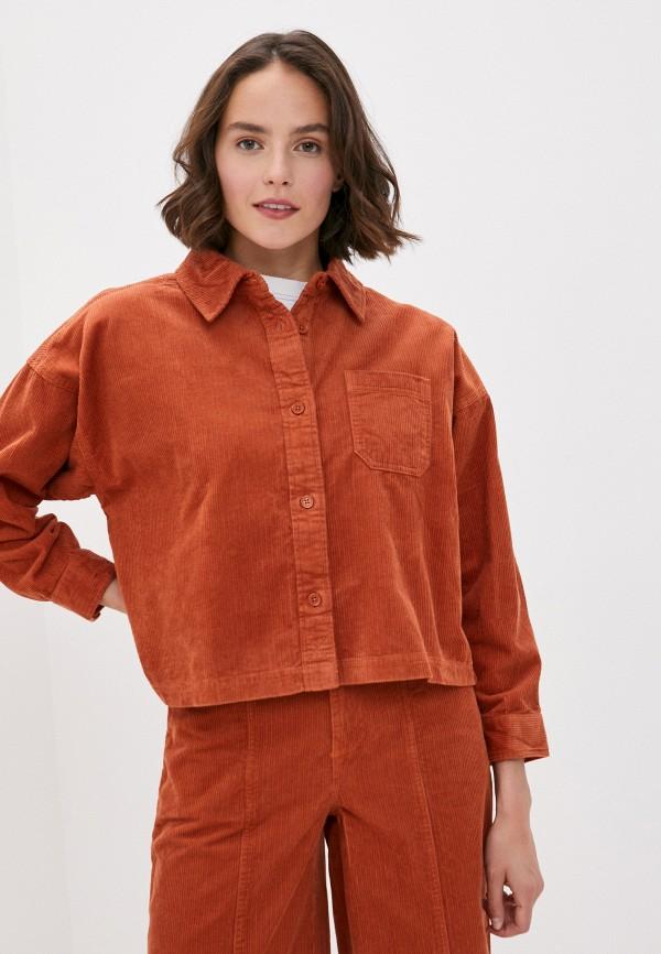 женская рубашка с длинным рукавом element, оранжевая