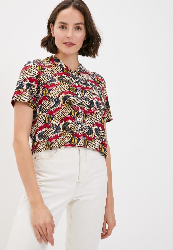 женская рубашка с коротким рукавом element, разноцветная