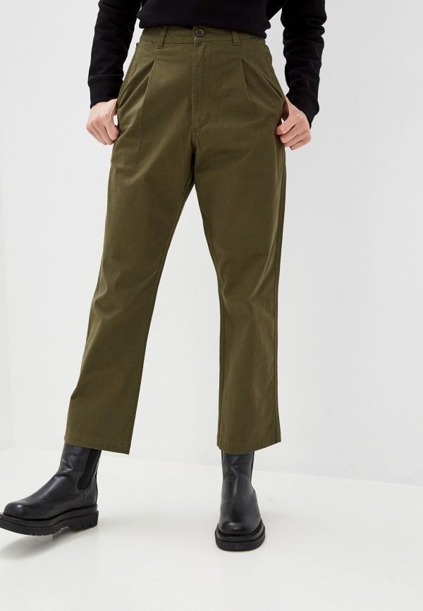 женские брюки element, зеленые