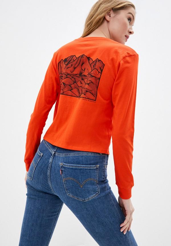 женский лонгслив element, оранжевый