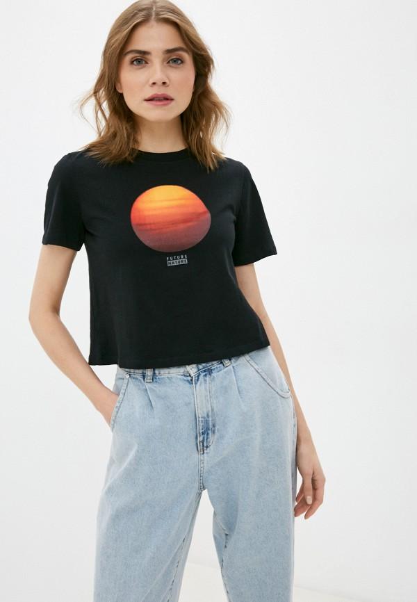 женская спортивные футболка element, черная