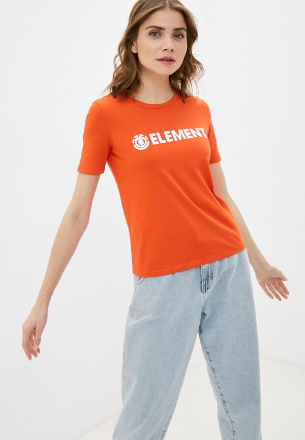 женская спортивные футболка element, оранжевая